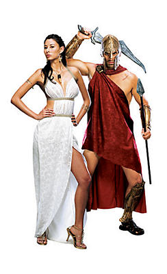 Queen Gorgo and Deluxe Spartan 300 Couples Costumes
