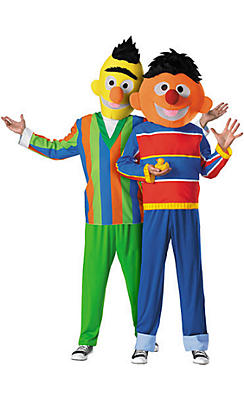 Bert and Ernie Sesame Street Couples Costumes