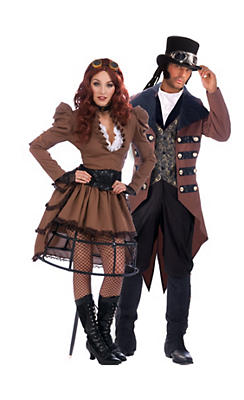 Steampunk Vickey and Jack Couples Costumes
