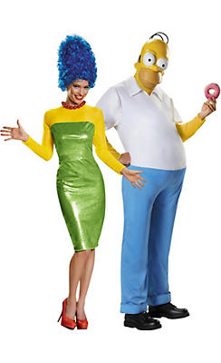 Adult Marge & Homer Simpson Couples Costumes