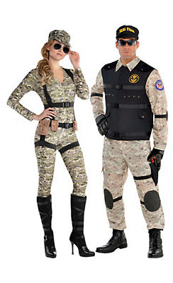 Adult Military Couples Costumes