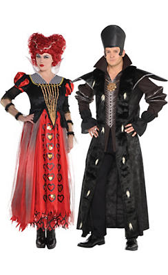 Adult Time & Red Queen Couples Costumes - Alice Through the Looking Glass