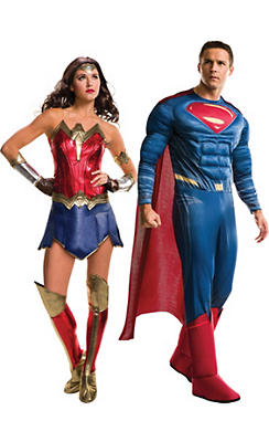 Adult Wonder Woman & Superman Couples Costumes - Batman v Superman: Dawn of Justice