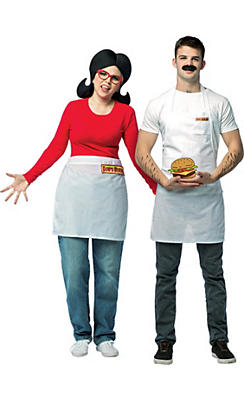Adult Bob Belcher & Linda Belcher Couples Costumes - Bob's Burgers