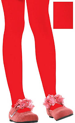 Child Red Seamless Tights