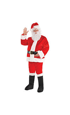 Adult Plush Red Santa Suit