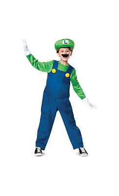 Boys Luigi Costume Deluxe - Super Mario Brothers