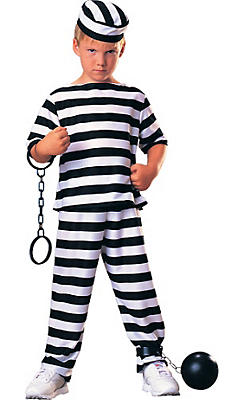 Boys Escaped Prisoner Costume