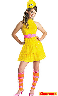 Girls Big Bird Costume - Sesame Street