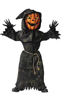 Boys Bobble Head Pumpkin Costume