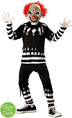 Boys Creepy Clown Costume