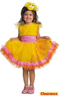 Toddler Girls Frilly Big Bird Costume - Sesame Street