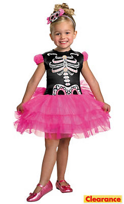 Toddler Girls Skullerina Costume