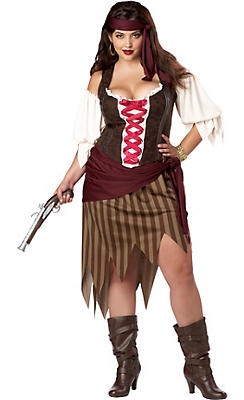 Adult Buccaneer Beauty Pirate Costume Plus Size