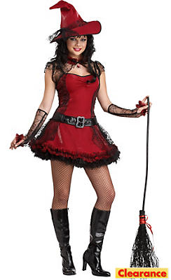 Teen Girls Mischevious Witch Costume