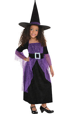 Little Girls Pretty Potion Witch Costume