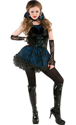 teen girls midnight vampire costume - Girls Teen Halloween Costumes