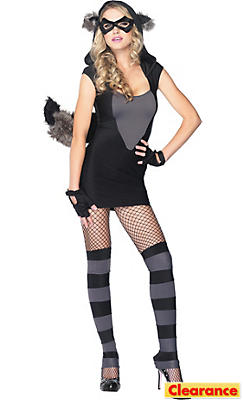 Adult Risky Raccoon Costume