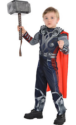 Little Boys Thor Muscle Costume - The Avengers