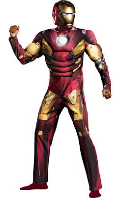 Adult Mark VII Iron Man Muscle Costume