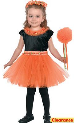 Toddler Girls Orange Princess Costume