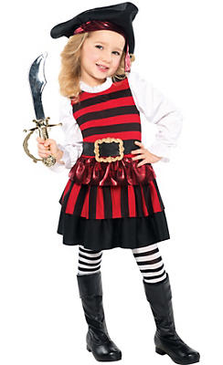 Toddler Girls Little Lassie Pirate Costume