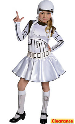 Girls Stormtrooper Costume - Star Wars
