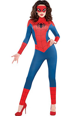 Adult Sexy Spidergirl Catsuit Costume