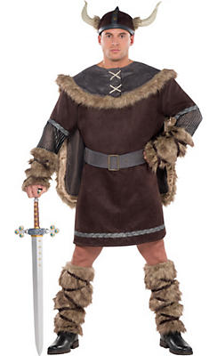 Adult Viking Warrior Costume Plus Size