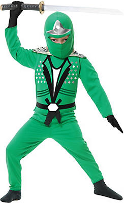 Toddler Boys Green Ninja Avenger Costume Deluxe