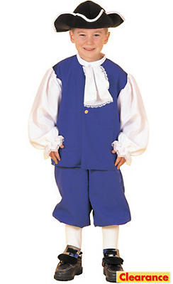 Boys Blue Colonial Costume