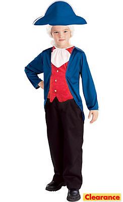 Boys Patriotic George Washington Costume
