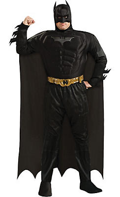 Adult Batman Muscle Costume Plus Size Deluxe - The Dark Knight Rises