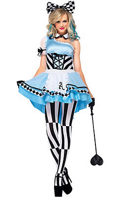 Adult Harlequin Alice Costume