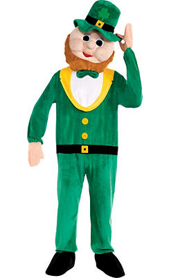 Adult Mascot Leprechaun Jumpsuit Costume