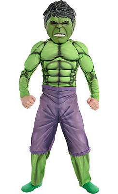 Little Boys Hulk Muscle Costume