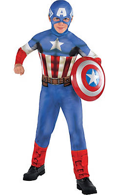 Boys Captain America Costume Classic