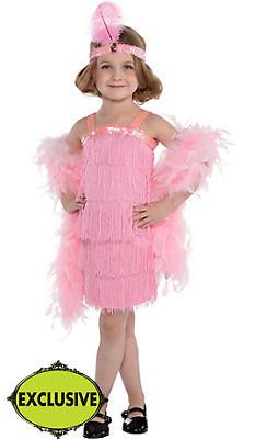 Girls Pink Flapper Costume