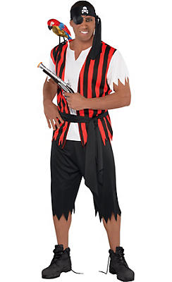 pirate costumes for men mens pirate outfits party city