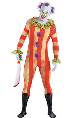 Adult Creepy Clown Partysuit