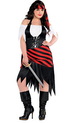 Adult Rogue Maiden Pirate Costume Plus Size