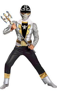 Boys Silver Ranger Muscle Costume - Power Rangers Super Megaforce