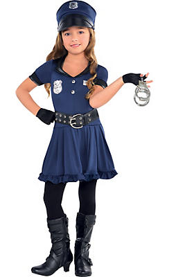 quick shop toddler girls cop costume - Girls Cop Halloween Costume
