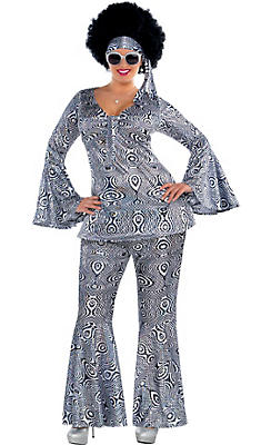 Adult Dancing Queen Disco Costume Plus Size