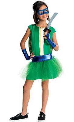 Girls Leonardo Costume Deluxe - Teenage Mutant Ninja Turtles