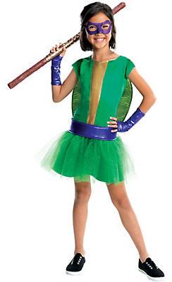 Girls Donatello Costume Deluxe - Teenage Mutant Ninja Turtles