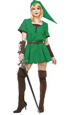 Adult Elf Warrior Princess Costume