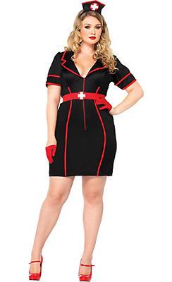 Adult Naughty Night Nurse Costume Plus Size