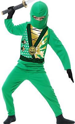 Toddler Boys Green Ninja Avenger Costume
