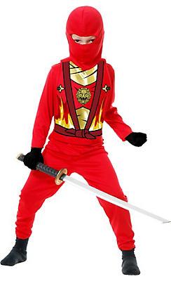 Toddler Boys Red Ninja Avenger Costume